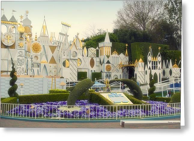 Toy Store Digital Art Greeting Cards - Small World Fantasyland Disneyland 01 Greeting Card by Thomas Woolworth