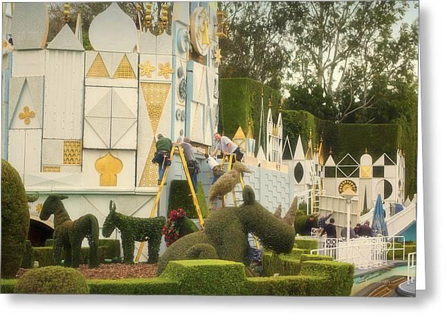Toy Store Digital Art Greeting Cards - Small World Fantasyland Disneyland 02 Greeting Card by Thomas Woolworth