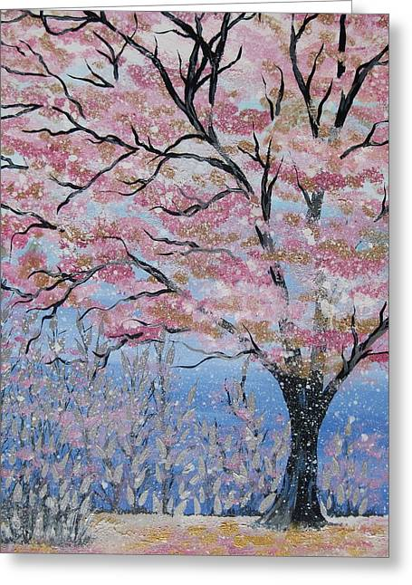 Canvas Framing Paintings Greeting Cards - Smaller Print Size Greeting Card by Cathy Jacobs
