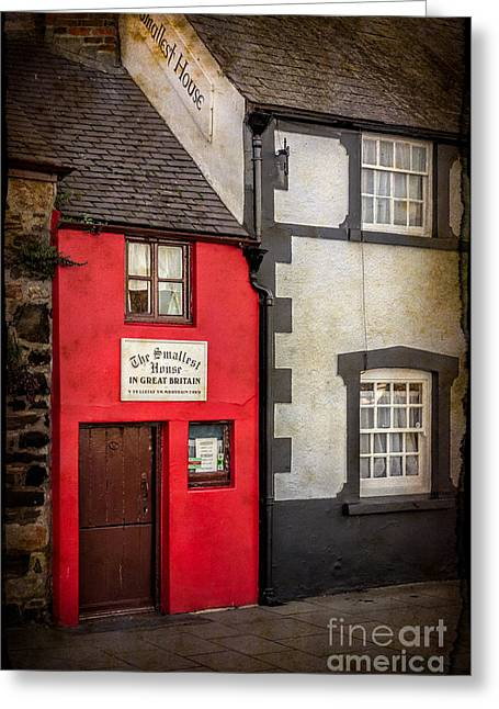 North Wales Greeting Cards - Smallest House Greeting Card by Adrian Evans
