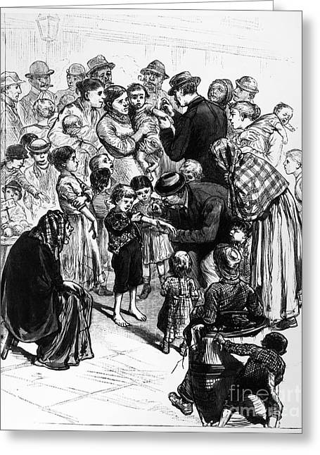 Vaccination Greeting Cards - Smallpox Vaccination, 1881 Greeting Card by Granger
