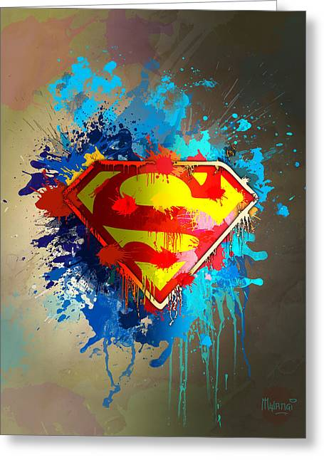 Crime Fighter Greeting Cards - Smallville Greeting Card by Anthony Mwangi