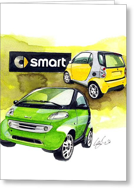 Smart Paintings Greeting Cards - Smart Greeting Card by Yoshiharu Miyakawa