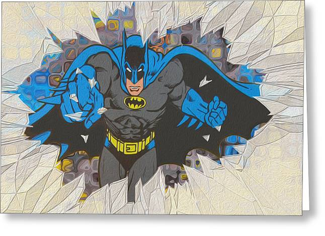 Comicbook Greeting Cards - Smash Greeting Card by Jack Zulli
