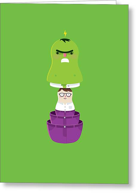 Bruce Banner Greeting Cards - Smashtrioska Greeting Card by Andres Moncayo