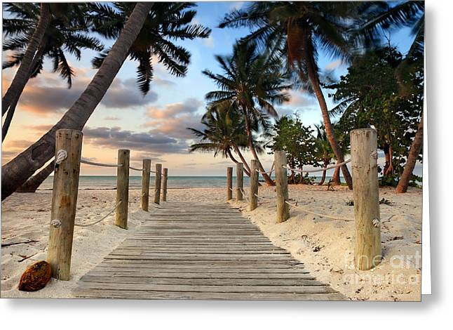 Key West Greeting Cards - Smathers Beach 2 Greeting Card by Rod McLean