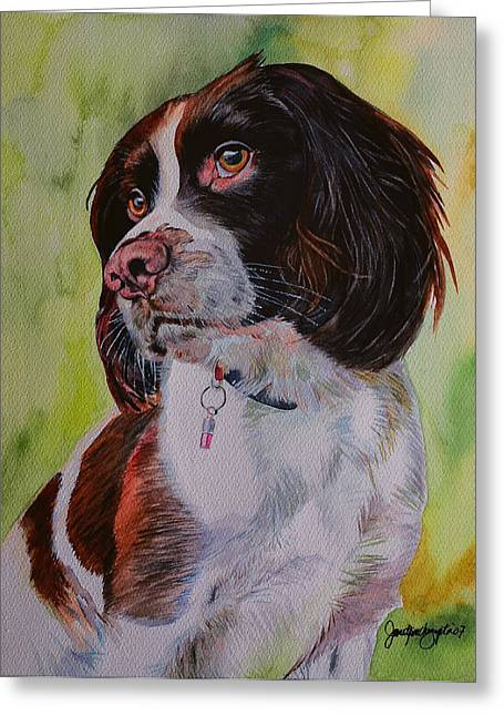 House Pet Greeting Cards - Smelling You From Miles Away Greeting Card by Janet Pancho Gupta