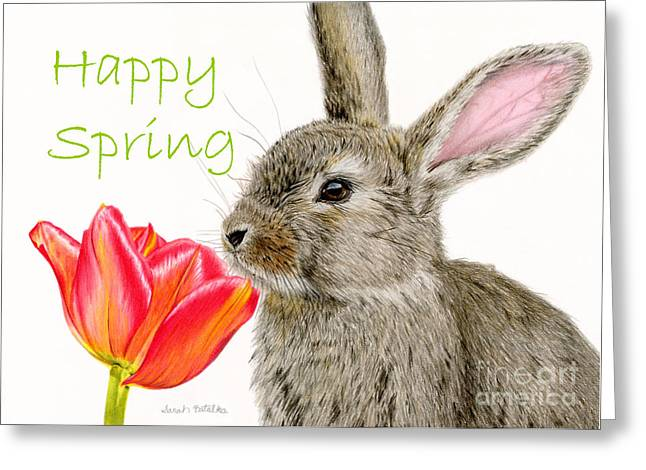 Smells Like Spring- Happy Spring Greeting Card by Sarah Batalka