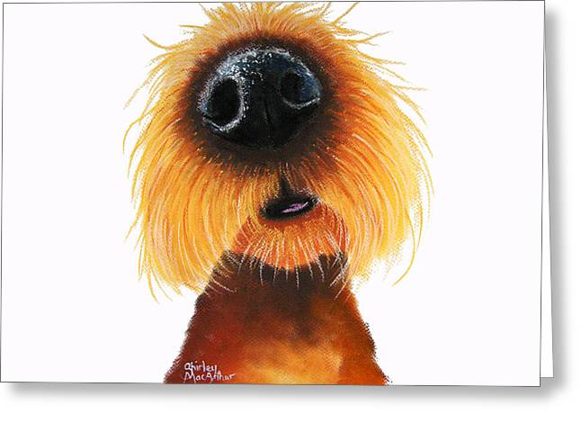 Canines Art Pastels Greeting Cards - Smells Like Stanley Greeting Card by Shirley MacArthur