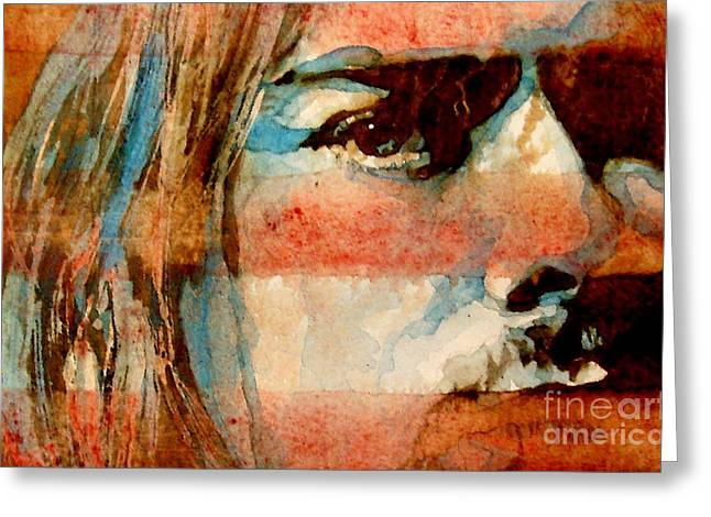 Kurt Greeting Cards - Smells Like Teen Spirit Greeting Card by Paul Lovering
