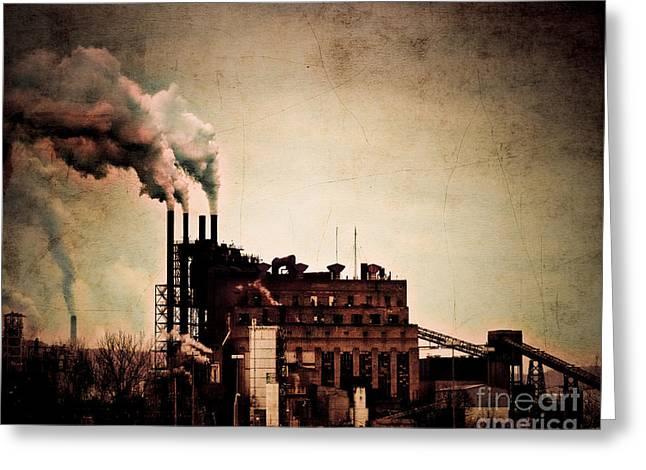 Smelter Greeting Cards - Smelter Greeting Card by Arne Hansen