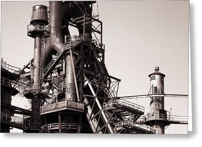 Smelting Furnace Greeting Card by Olivier Le Queinec