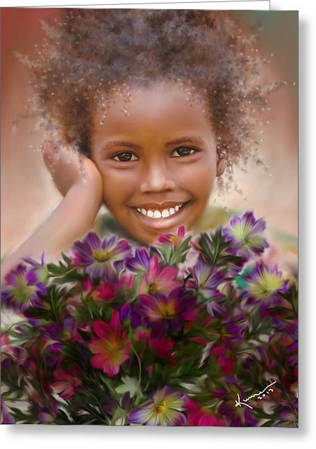 Innocence Greeting Cards - Smile 2 Greeting Card by Kume Bryant