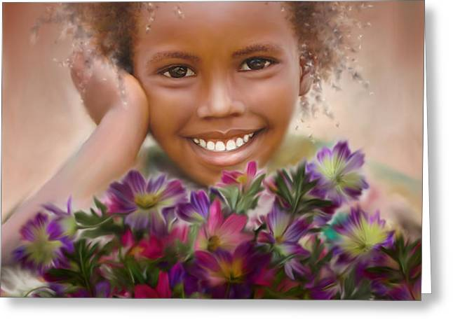 Smile 2 Greeting Card by Kume Bryant