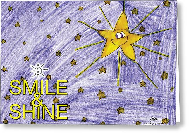 Smile And Shine Greeting Card by Victor Pacini