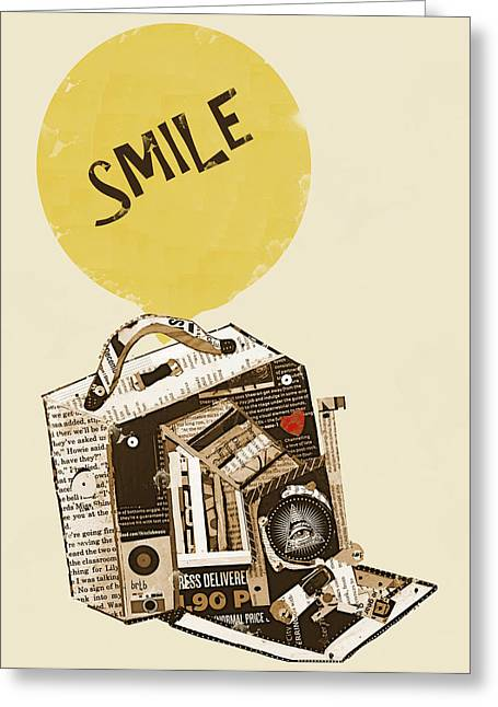 Camera Paintings Greeting Cards - Smile Greeting Card by Bri Buckley