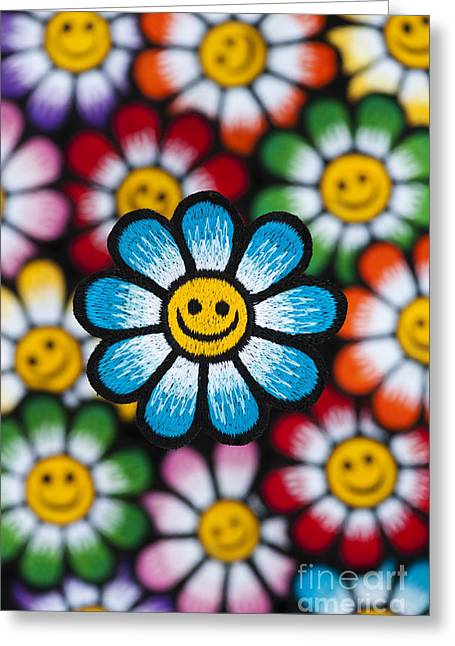 Psychedelic Photographs Greeting Cards - Smile Flowers Greeting Card by Tim Gainey