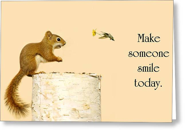 Texting Greeting Cards - Smile. Greeting Card by Kelly Nelson