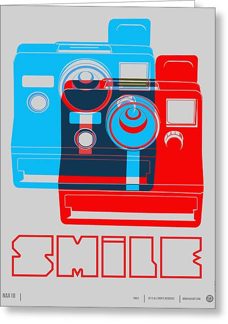 Humor Greeting Cards - Smile Polaroid Poster Greeting Card by Naxart Studio