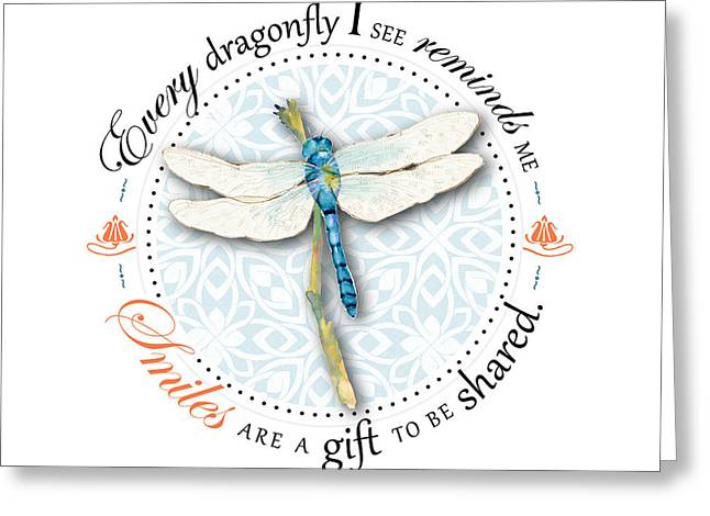 Centric Greeting Cards - Smiles are a gift to be shared Greeting Card by Amy Kirkpatrick