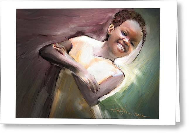 Haitian Digital Art Greeting Cards - Smiles Rule The Day Greeting Card by Bob Salo
