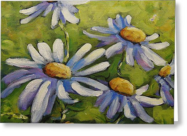 étoiles Greeting Cards - Smiling Daisies by Prankearts Greeting Card by Richard T Pranke
