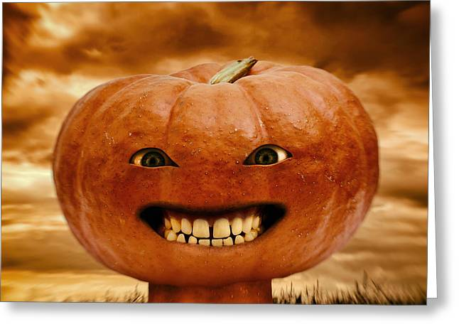 Creepy Digital Art Greeting Cards - Smiling Jack Greeting Card by Wim Lanclus