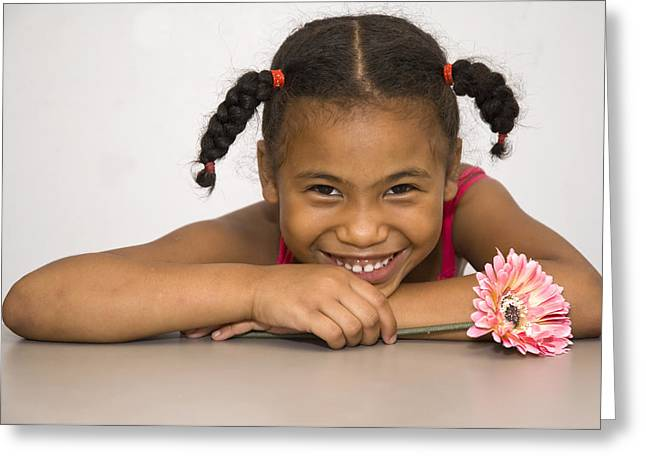 Smiling Pretty Greeting Card by Carolyn Marshall