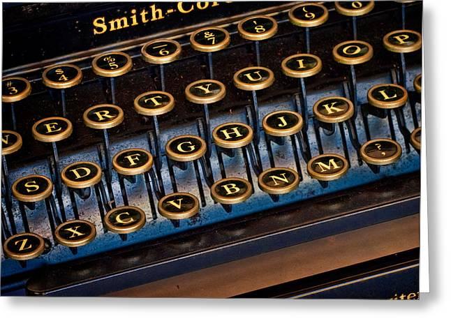 Typewriter Greeting Cards - Smith Corona Vintage Typewriter Greeting Card by David and Carol Kelly