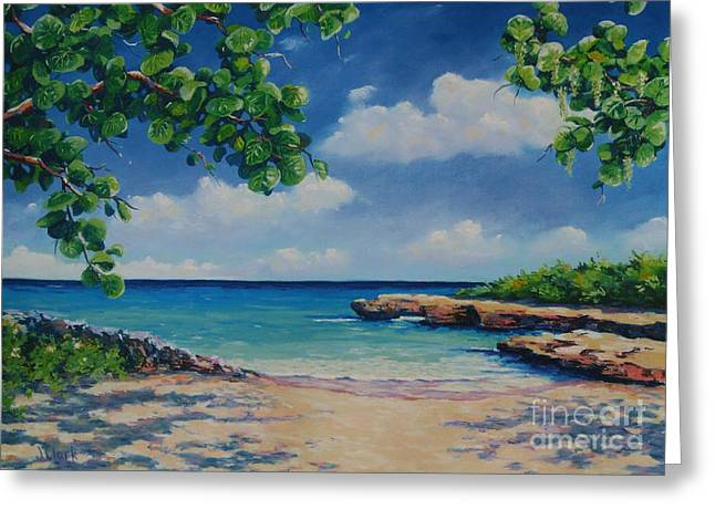 Tropical Oceans Pastels Greeting Cards - Smith Cove 16x23 Greeting Card by John Clark