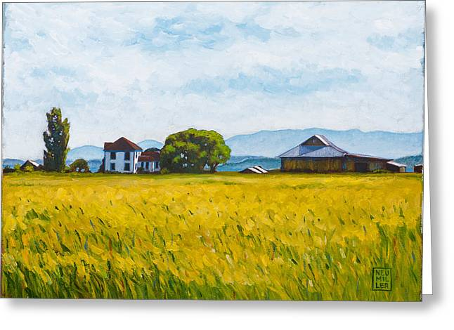 Whidbey Island Greeting Cards - Smith Farm Greeting Card by Stacey Neumiller