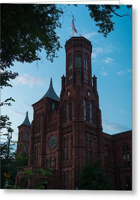 Institution Greeting Cards - Smithsonian Castle Dawn Greeting Card by Steve Gadomski