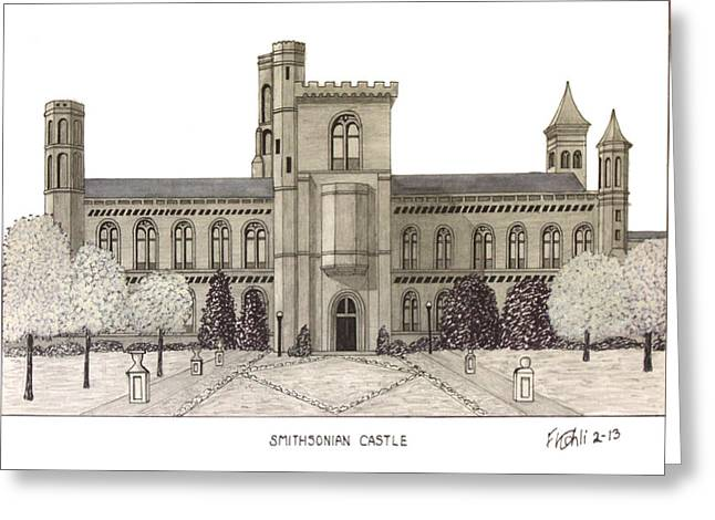 Smithsonian Museum Greeting Cards - Smithsonian Castle Greeting Card by Frederic Kohli