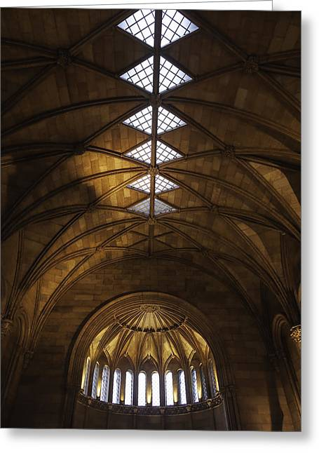 Smithsonian Castle Vaulted Ceiling Greeting Card by Lynn Palmer