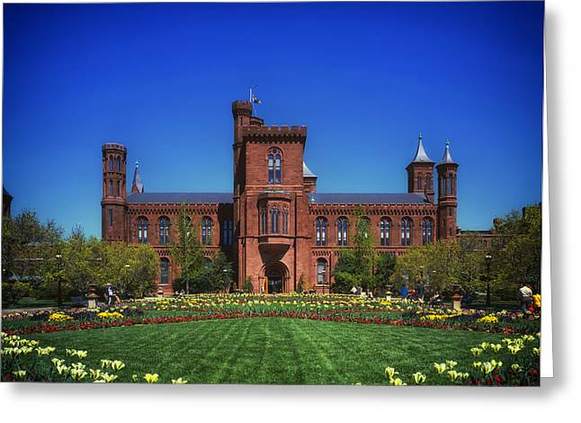 Recently Sold -  - Historic Architecture Greeting Cards - Smithsonian Castle - Washington D C Greeting Card by Mountain Dreams
