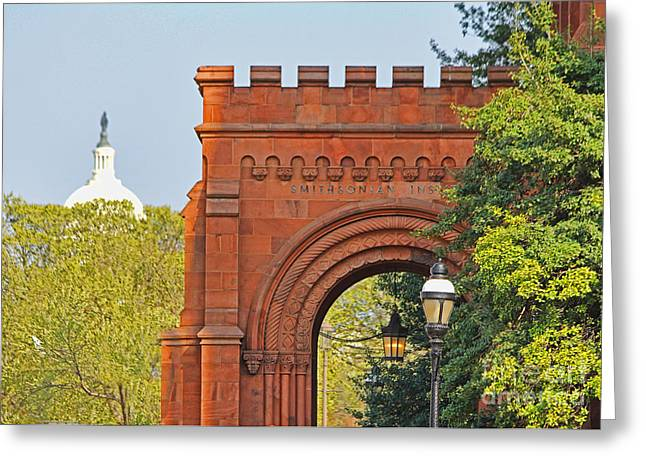 Smithsonian Greeting Cards - Smithsonian Entrance 1136 Greeting Card by Jack Schultz