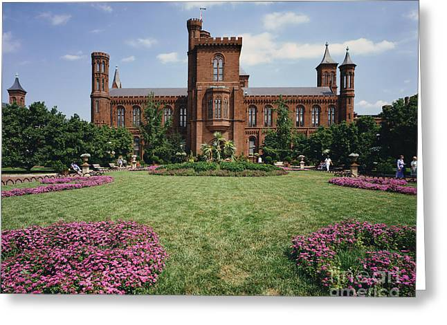 Smithsonian Museum Greeting Cards - Smithsonian Institution Building Greeting Card by Rafael Macia