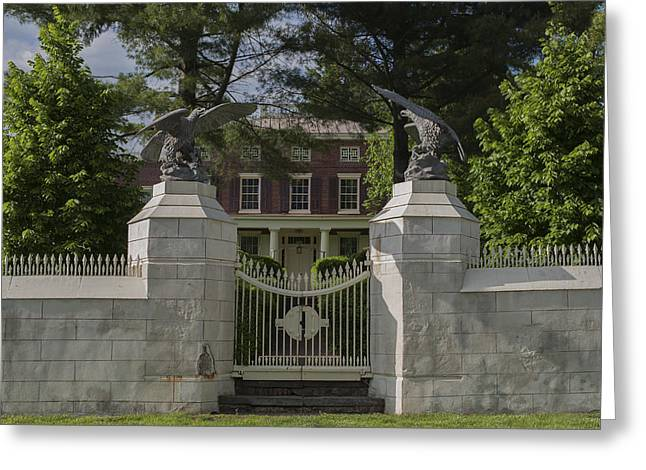 Bathroom Prints Greeting Cards - Smithville Mansion Mt Holly NJ Greeting Card by Terry DeLuco