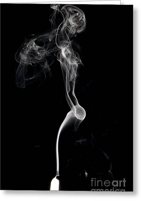 Turbulence Greeting Cards - Smoke From A Candle Greeting Card by Scott Camazine