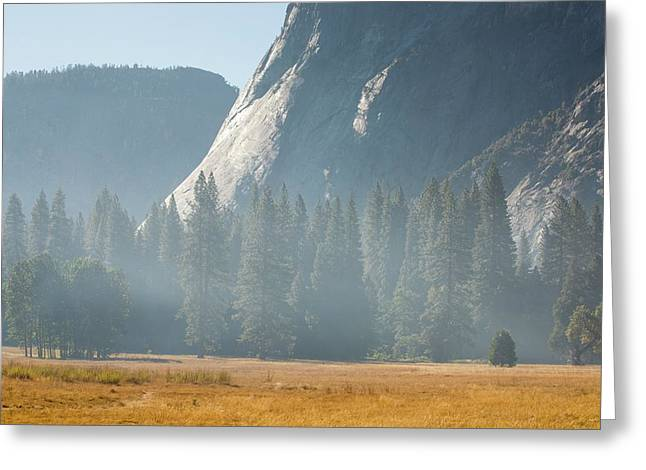 Smoke From A Forest Fire Greeting Card by Ashley Cooper