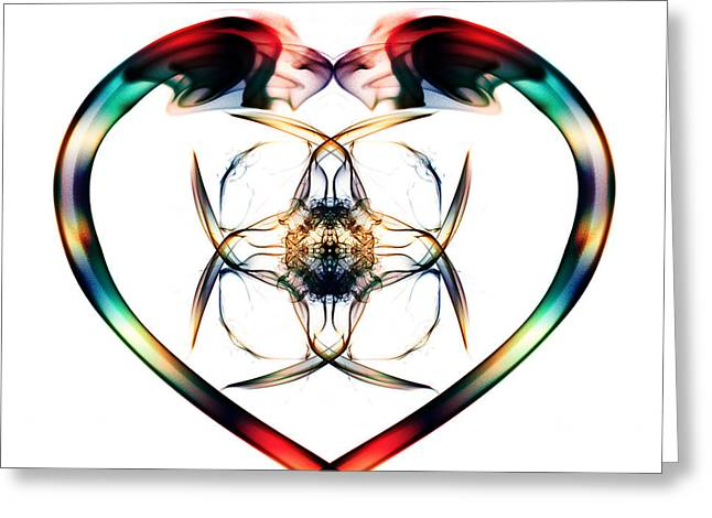 Algorithmic Abstract Greeting Cards - Smoke HeART 3 Greeting Card by Steve Purnell