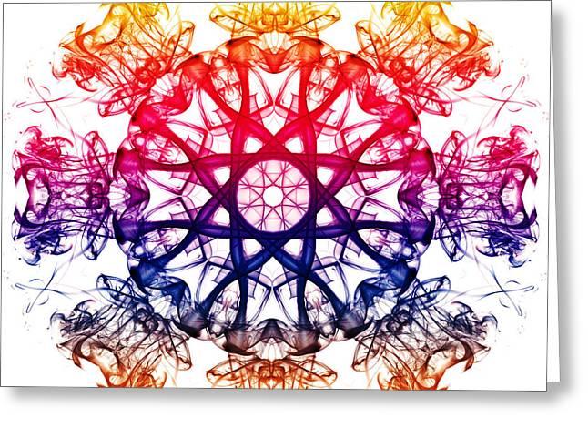 Algorithmic Photographs Greeting Cards - Smoke Mandala 2 Greeting Card by Steve Purnell