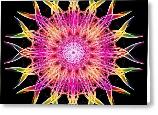 Smoke Mandala 6 Greeting Card by Steve Purnell