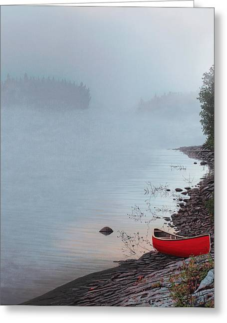 Mist Paintings Greeting Cards - Smoke on the Water Greeting Card by Kenneth M  Kirsch