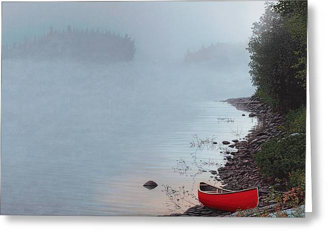 Smoke On The Water Greeting Card by Kenneth M  Kirsch