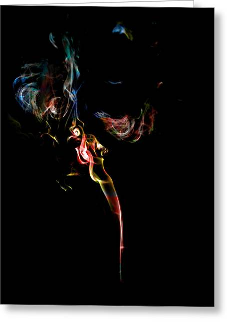 Fuselier Greeting Cards - Smoke PhotoArt Greeting Card by Cecil Fuselier