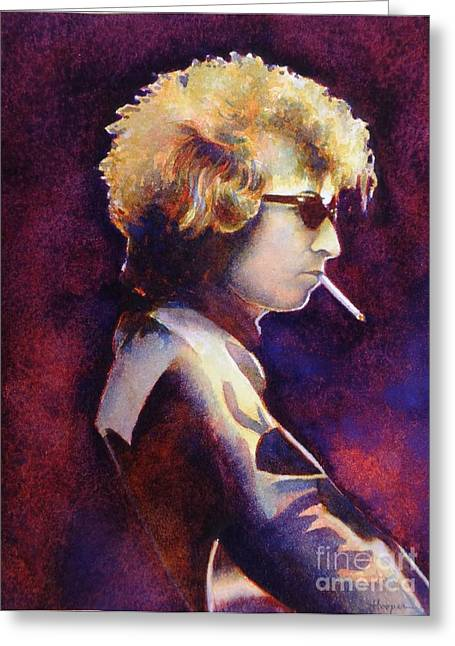 Bob Dylan Greeting Cards - Smoke Greeting Card by Robert Hooper