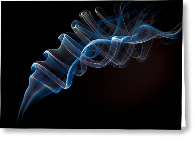 Fume Greeting Cards - Smoke Scrolls Greeting Card by Richard ONeil