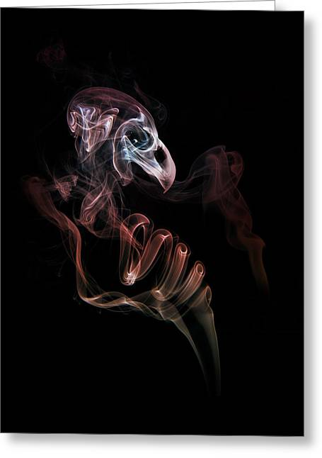 Incense Sticks Greeting Cards - Smoke skull Greeting Card by Jaroslaw Blaminsky