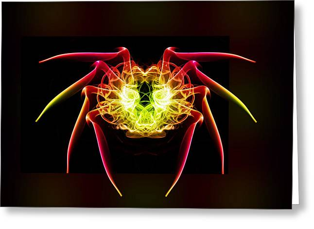 Smoke Spider 1 Greeting Card by Steve Purnell